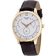 Tissot Men s T0636373603700 Tradition Rose Gold Watch with Embossed Band thumbnail