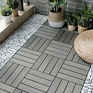 Combo 3 tấm ván sàn gỗ tự nhiên lát ngoài trời 12 nan - Tấm Ván Lót Sàn Gỗ Vỉ Nhựa Chịu Nước Tốt thumbnail