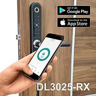 Khóa điện tử Glaze dùng thẻ 13.56Mhz, mật khẩu, vân tay, chìa cơ, Bluetooth cho cửa nhôm Xingfa DL3025 - Hàng chính hãng thumbnail