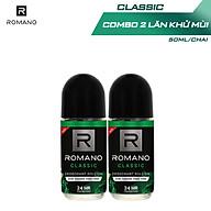 Combo 2 Lăn khử mùi Romano Classic kháng khuẩn & khô thoáng cả ngày 50ml 2 thumbnail