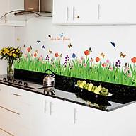 Decal dán tường trang trí phòng khách- Chân tường hoa cỏ xanh- mã sp DSK9057 thumbnail