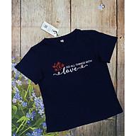 Áo Thun Ngắn Tay, Áo Phông Cộc Tay Nữ Vicci AP.01.2 chất liệu cotton vân gỗ phối hoạ tiết chữ Love thumbnail