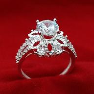 Nhẫn nữ Bạc Quang Thản, nhẫn bạc nữ ổ kết gắn đá kim cương nhân tạo 6ly chất liệu bạc thật không xi mạ , phong cách trẻ trung thích hợp đeo tại các buối dạ tiệc, sinh nhật, làm quà tặng QTNU55 thumbnail