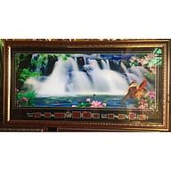 Tranh suối chuyển động phong cảnh, đồng hồ vạn niên - MS545 thumbnail