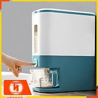 Thùng đựng gạo thông minh 12kg HT SYS, thiết kế dạng nhấn nút, chất liệu ABS cao cấp thumbnail
