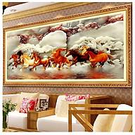 Tranh Bát Mã - Tranh Gỗ Treo Phòng Khách BM003124 thumbnail