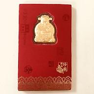 Bao lì xì Thần Tài may mắn tết bằng vàng 999-RN02 thumbnail