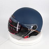 Mũ Bảo Hiểm Nửa Đầu Viền Đồng Có Kính SRT Chống Tia UV Cao Cấp thumbnail