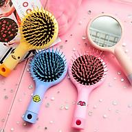Lược kèm gương mini phong cách Hàn Quốc dễ thương - Giao màu ngẫu nhiên thumbnail