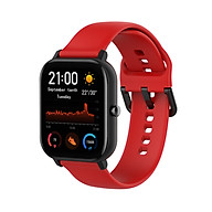Dây Đeo Thay Thế Cho Đồng Hồ Thông Minh Smart Watch Size 20mm Xiaomi Amafit GTS Xiaomi Amazfit Bip Huawei Watch 2 Garmin Vivomove HR Samsung Galaxy Watch (42mm) - Dây Trơn - Size Lớn thumbnail