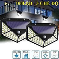 Đèn Led Năng Lượng Mặt Trời 100 led 3 chế độ cảm ứng chuyển động, Đèn led chống trộm , Trang Trí Sân Vườn thumbnail