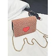 Túi BÔNG nữ hình trái tim sang trọng thời trang hàn quốc 2019 thumbnail