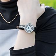 Đồng hồ nữ PAGINI dây da mặt tròn Mặt kính tráng sapphire - Thiết kế trẻ trung, hiện đại PA6305 thumbnail