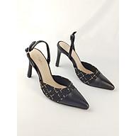 Giày cao gót Enako phối vải Tweed sành điệu TP13454 thumbnail