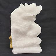 Tượng Phong Thuỷ Tuổi Thìn - Rồng 12 Con Giáp Đá Trắng - 15cm - Mx - Hợp Mệnh Kim, Thuỷ thumbnail