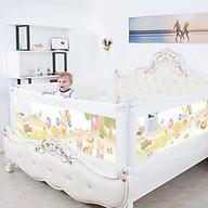 Thanh chắn giường an toàn cho em bé nút bấm hiện đại cao 82cm trượt lên trượt xuống giá bán 1 thanh thumbnail