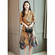 Áo khoác dáng dài kiểu áo khoác in họa tiết hoa đẹp cột eo AK1533485 thumbnail