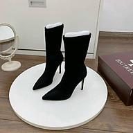 Giày bốt nữ da lộn gót nhọn (sẵn) thumbnail