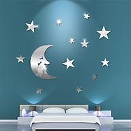 Bộ decal trang trí dán tường 3D sáng tạo cao cấp (M6) Mặt trăng thumbnail