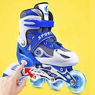 Giày patin trẻ em siêu hot cho bé màu xanh thumbnail