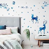 Decal dán tường trang trí phòng ngủ, lớp mầm non- Hươu xanh - mã sp DSK9181 thumbnail