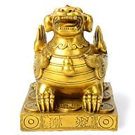 Tượng linh vật Tỳ Hưu bệ bằng đồng thau phong thủy Tâm Thành Phát thumbnail