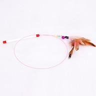 Đồ chơi cần câu mèo bằng thép gắn lông dành cho mèo thumbnail