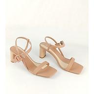 Giày sandal quai mảnh lót 2 màu phối xuất sắc gót thanh 5cm Enako TP13490 thumbnail