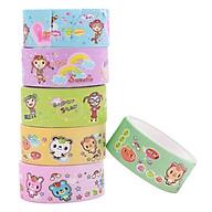Bộ 6 Băng Keo Giấy Trang Trí Paper Tape 1.5cm x 2.5m Siêu Đáng Yêu thumbnail