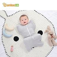 Nhộng chũn Quấn chũn sợi tre Bamboo Life BL069 hàng chính hãng cho bé Túi ngủ cho bé giúp bé ngủ sâu chống giật mình thumbnail
