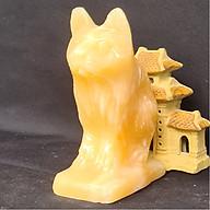 Tượng Phong Thuỷ Tuổi Mão - Mèo 12 Con Giáp Đá Ngọc Hoàng Long - 8cm - Mx - Hợp Mệnh Thổ, Kim thumbnail