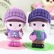 Tượng trang trí Couple Cặp đôi tím hồng - 1 tượng (phát ngẫu nhiên) thumbnail