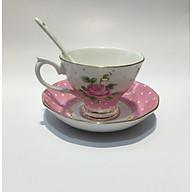 Bộ chén trà 1 người ROYAL 2309 - hồng xanh thumbnail