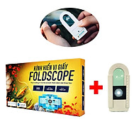 Combo Foldscope - Kính hiển vi giấy + Đèn Led + Lam Kính thumbnail