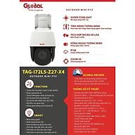 Camera PTZ Global TAG-I72L5-Z27-X4 Camera quay quét chống nước - HÀNG CHÍNH HÃNG thumbnail