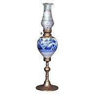 Đèn thờ dầu men lam vẽ phong cảnh gốm sứ Bát Tràng (đèn dầu, đèn thờ cúng) thumbnail