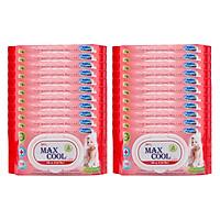 Combo 22 Gói Khăn Ướt Max Cool Có Hương MC100-06 (80 Tờ x 22) - Đỏ