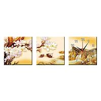 Bộ Ba Tranh Đồng Hồ Treo Tường Thế Giới Tranh Đẹp Q16-122-DH