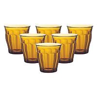 Bộ 6 Ly Thủy Tinh Amber DURALEX 1027DB06A0111 (205ml) - Hổ Phách