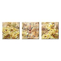 Bộ Ba Tranh Đồng Hồ Treo Tường Thế Giới Tranh Đẹp Q16-125-DH