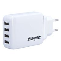 Adapter Sạc 4 Cổng USB 4.2A Energizer CL USA4BEUCWH5 - Trắng - Hàng Chính Hãng