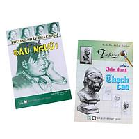 Bộ Phương Pháp Phác Họa Tranh Đầu Người - Tự Học Vẽ Chân Dung Thạch Cao (2 Cuốn)