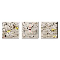 Bộ Ba Tranh Đồng Hồ Treo Tường Thế Giới Tranh Đẹp Q16-183-DH