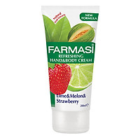 Kem Dưỡng Ẩm Cho Tay Và Cơ Thể Chiết Xuất Từ Chanh Và Dâu Tây Farmasi Refreshing Hand & Body Cream 200ml - 1926CR04