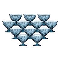 Bộ 12 Ly Kem Thủy Tinh Diamond Bormioli Rocco 302254M04321990 (220ml / Ly) - Xanh Biển