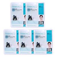 Combo 5 Mặt Nạ Dermal Tinh Chất Collagen Với Chiết Xuất Rong Biển