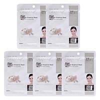 Combo 5 Mặt Nạ Dermal Tinh Chất Collagen Với Chiết Xuất Ngọc Trai
