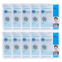 Combo 10 Mặt Nạ Dermal Tinh Chất Collagen Với Chiết Xuất Làm Trắng Tự Nhiên