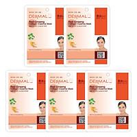 Combo 5 Mặt Nạ Dermal Tinh Chất Collagen Với Chiết Xuất Hồng Sâm