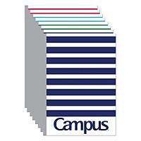 Lốc 10 Cuốn Tập Kẻ Ngang Campus B5 Repete - Mẫu Ngẫu Nhiên (120 Trang)